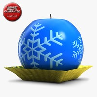 3d christmas candle model