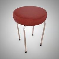 3d vintage stool 60 s
