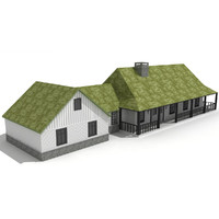 residential house - chalet 3d model