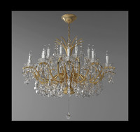 chandelier lamp light 3d obj