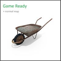 games wheelbarrow 3d model