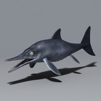 3d model ichthyosaurs triassic cretaceous