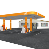 3d oil station model