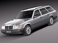 3d model of mercedes benz mercedes-benz w124