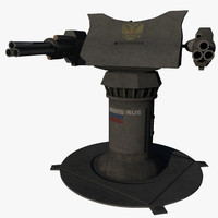 3d heavy machine gun turret model