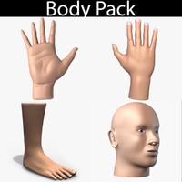 body pack 01 3d model