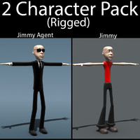 character pack 02 3d model