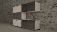 3d usm modular furnitures model