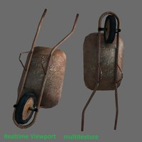 3d games wheelbarrow model