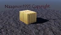 gold bars 3d model