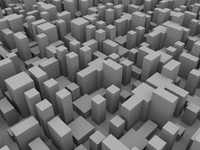 3d low-poly seamless city model
