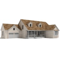 3d model of residential house - chalet