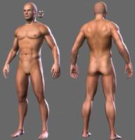 male figure 3d max