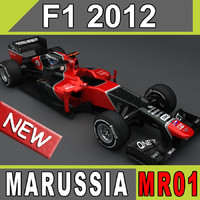 3d marussia car