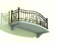 architectural balcony 3d 3ds