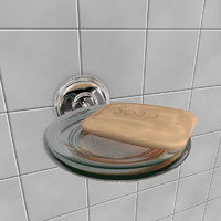 3d model of soap holder
