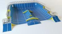 skate playground 3d model