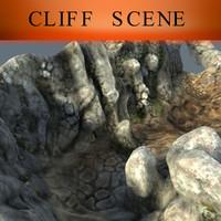 cliff scene 3d max