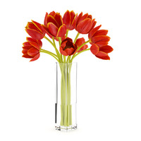 orange tulip vase obj