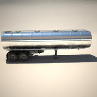 3d model truck trailer cistern tanker