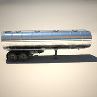3d truck trailer cistern tanker