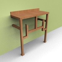 Lite Brown wall table