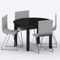 IKEA BJURSTA/BERNHARD Table & Chairs