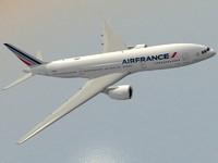 3d model b 777-200 er air france