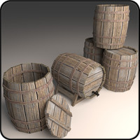 Wooden Barrel Collection #1