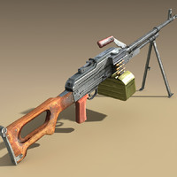 russian pkm 3d model