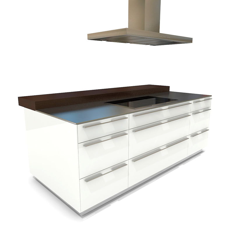 3d Sketch Small Kitchens And Islands: Kitchen Island Bulthaup B3 3d Ma