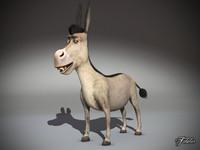 3d donkey mat model