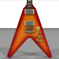 cinema4d gibson flying v