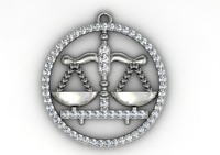 3dm libra diamond pendant