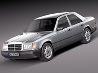 3d model of mercedes benz w124 sedan