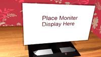 3d futuristic monitor concept
