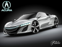 3ds max acura nsx concept 2012