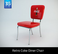 3ds retro diner chair