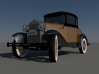 3d model old classic car 1930