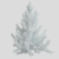 3d pine tree white model
