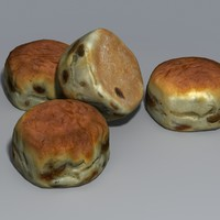 3d traditional scone model