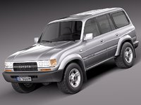 3d model toyota land cruiser j80