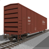 Train Car: Boxcar / Cargo: C4D Format