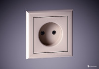 wall socket 3d max