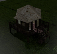 rest house 3d 3ds