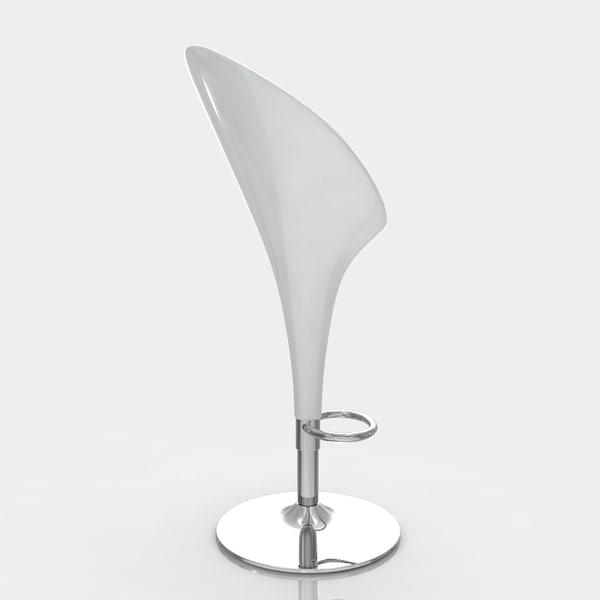 3ds max bar stool - Witte plastic stoel ...