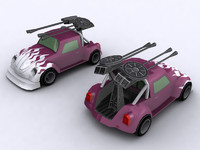 Lowpoly car Beetle