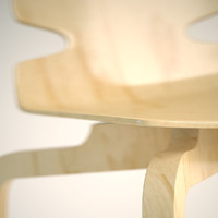 artek lento chair 3d model