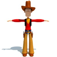 Cartoon Cowboy Character