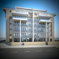 3d residential house